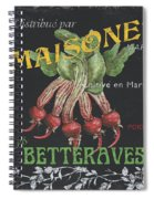 French Veggie Labels 2 Spiral Notebook