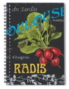 French Veggie Labels 3 Spiral Notebook
