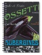French Veggie Labels 4 Spiral Notebook