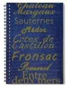 French Wines - 2 Champagne And Bordeaux Region Spiral Notebook
