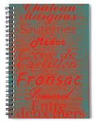 French Wines - 5 Champagne And Bordeaux Region Spiral Notebook