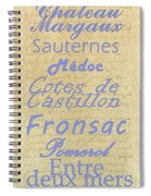 French Wines - Champagne And Bordeaux Region-1 Spiral Notebook