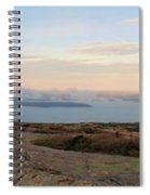 Frenchmans Bay From Cadillac Mountain Spiral Notebook