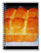 Fresh Baked Bread Three Bun Loaf Spiral Notebook