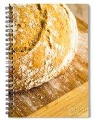 Fresh Baked Loaf Of Artisan Bread Spiral Notebook