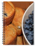 Fresh Blueberries And Muffins Spiral Notebook