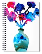 Fresh Cut - Vibrant Flowers Floral Painting Spiral Notebook