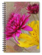 Fresh Flowers Painted Spiral Notebook