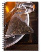 Fresh Glass Cup Of Tea Spiral Notebook