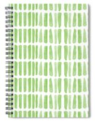 Fresh Grass- Abstract Pattern Painting Spiral Notebook