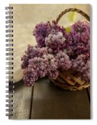 Fresh Lilacs In Brown Basket Spiral Notebook