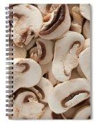 Fresh Mushrooms Spiral Notebook