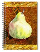 Fresh N Happy Pear Decorative Collage Spiral Notebook