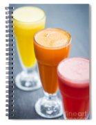 Fresh Orange Carrot And Watermelon Fruit Juice Spiral Notebook