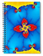 Fresh Orange Red And Blue Abstract Fractal Art Spiral Notebook