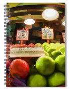 Fresh Pike Place Apples Spiral Notebook
