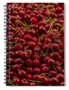 Fresh Red Cherries Spiral Notebook