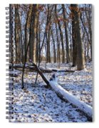 Fresh Snow In The Woods Spiral Notebook