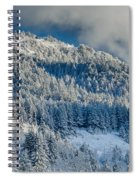 Fresh Snow On The Mountain Spiral Notebook