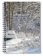 Fresh Snowfall  Spiral Notebook