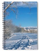 Fresh Tracks Spiral Notebook