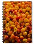 Fresh Yellow Cherries Spiral Notebook