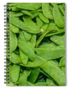 Freshly Harvested Peas On Display At The Farmers Market Spiral Notebook