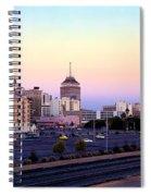 Fresno Skyline Into The Evening Spiral Notebook