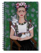 Frida Cat Lover  Spiral Notebook