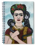 Frida In The Sky Spiral Notebook