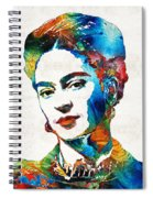 Frida Kahlo Art - Viva La Frida - By Sharon Cummings Spiral Notebook