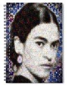 Frida Kahlo Mosaic Spiral Notebook