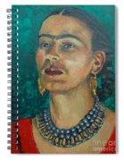 Frida Teal Spiral Notebook