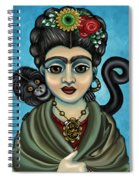 Frida's Monkey Spiral Notebook