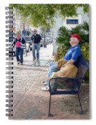 Friend And Companion - Watercolor Effect Spiral Notebook
