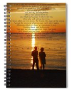 Friend For Life Poem Spiral Notebook