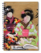 Friends, 2004 Pastel And Charcoal On Paper Spiral Notebook