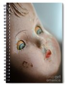 Frightened Vintage Doll Face Spiral Notebook