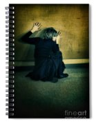 Frightened Woman Spiral Notebook