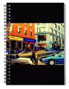 Friperie St.laurent Clothing Variety Dress Shop Downtown Corner Store City Scene Montreal Art Spiral Notebook
