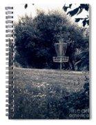 Frisbee Disc Golf Basket Spiral Notebook