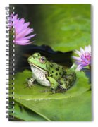 Frog And Water Lilies Spiral Notebook