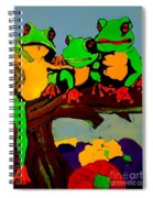 Frog Family Hanging Out On A Limb Spiral Notebook