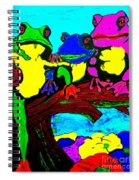 Frog Family Hanging Out On A Limb3 Spiral Notebook