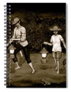 Frog Hunters Black And White Photograph Version Spiral Notebook
