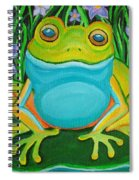 Frog On A Lily Pad Spiral Notebook