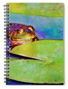 Frog - On A Water Lily Pad Spiral Notebook