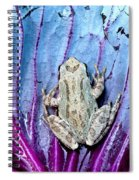 Frog On Cabbage Spiral Notebook