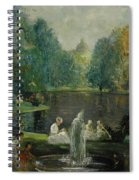 Frog Pond In Boston Public Gardens Spiral Notebook