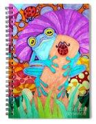 Frog Under A Mushroom Spiral Notebook